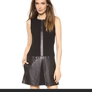 Price Drop! Theory black leather panelled dress 😎